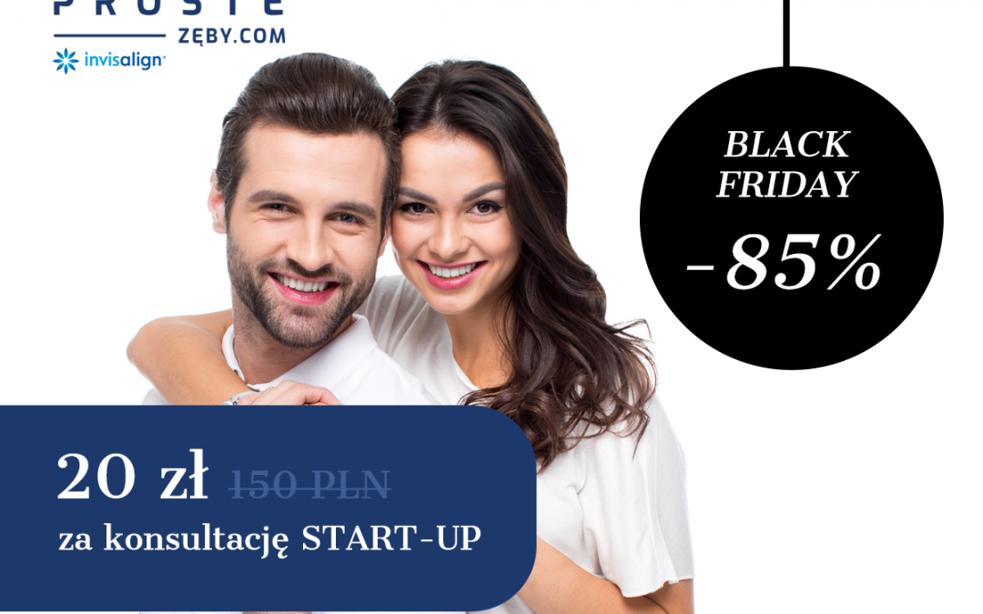 BLACK FRIDAY: 85% zniżki na wizytę START-UP
