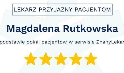 Dr. Rutkowska Lekarzem Przyjaznym Pacjentom